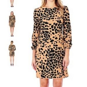 Jude Connally Chloe Dress Animal Print Size Small